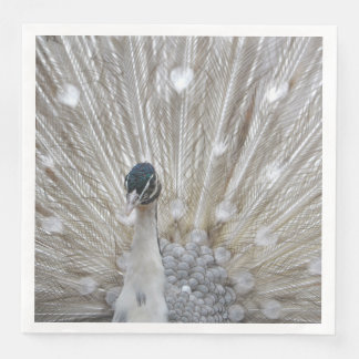 Elegant Albino Peacock Disposable Napkins
