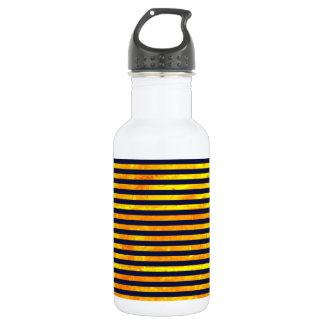 Elegant amber ant stripes pattern 532 ml water bottle