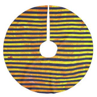 Elegant amber ant stripes pattern brushed polyester tree skirt