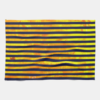 Elegant amber ant stripes pattern kitchen towel