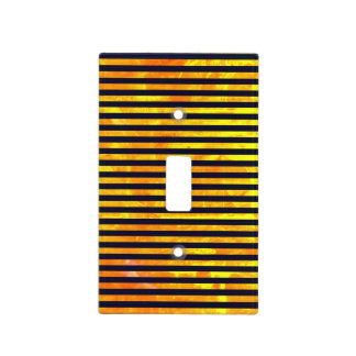 Elegant amber ant stripes pattern light switch cover