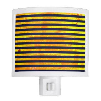 Elegant amber ant stripes pattern night lites