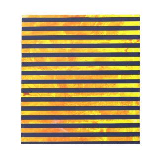 Elegant amber ant stripes pattern notepad