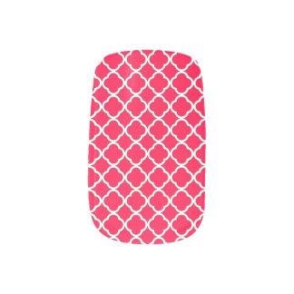 Elegant American Rose Quatrefoil Maroccan Pattern Minx Nail Art