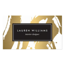 Elegant and Abstract Gold Brushstrokes III Pack Of Standard Business Cards