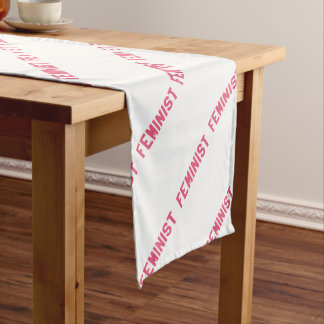 Elegant and Beautiful Typography || Feminist Short Table Runner