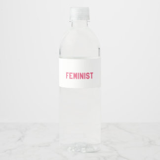 Elegant and Beautiful Typography || Feminist Water Bottle Label