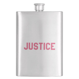 Elegant and Beautiful Typography || Justice Hip Flask