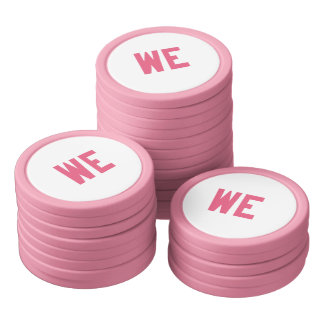Elegant and Beautiful Typography    WE Poker Chips