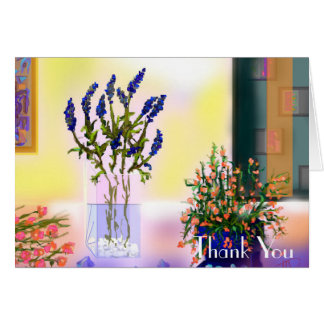 Elegant and Chic Colorful Flowers in Mason Jar Card