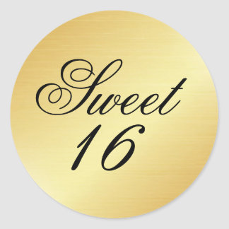 Elegant and Chic Gold Sweet 16 Sticker
