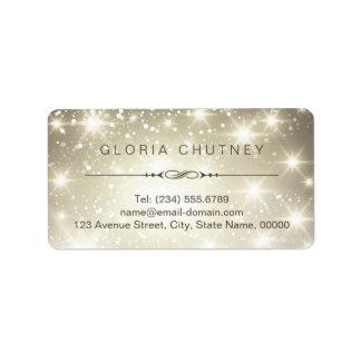 Elegant and Classy Shimmer Sparkling Label