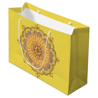 Elegant and Colorful Mandala Large Favor Bag