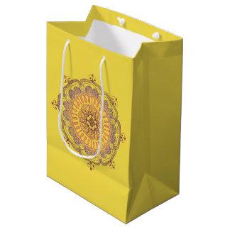 Elegant and Colorful Mandala Medium Favor Bag