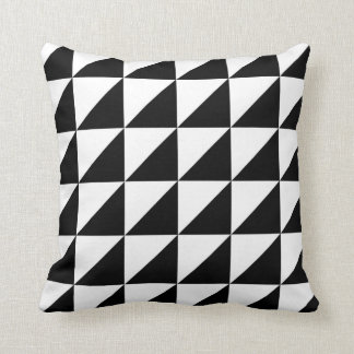 Elegant and decorative black and white cushion throw pillow
