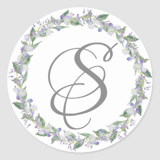 Elegant and Formal Floral Monogram Envelop Seal