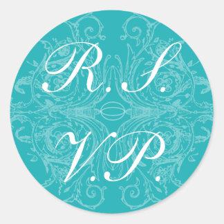 Elegant and Formal RSVP Sticker
