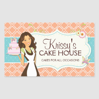 Elegant and Fun Bakery Box Stickers