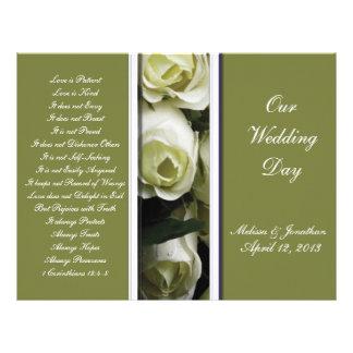 Elegant and Green Wedding Program
