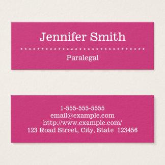 Elegant and Minimal Paralegal Business Card