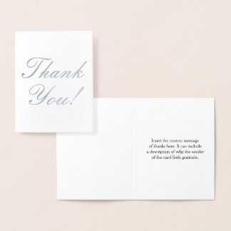 "Elegant and Minimal ""Thank You!"" Card"