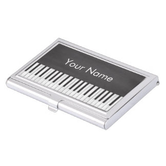 Elegant and Modern Chalkboard Piano Teacher Business Card Holder