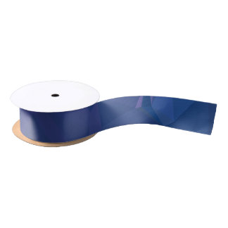 Elegant and Modern Geo Designs - Deep Sky Satin Ribbon