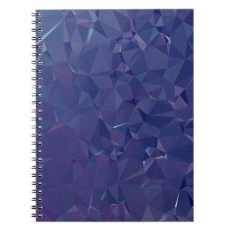 Elegant and Modern Geo Designs - Dragon Cobalt Notebooks