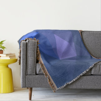 Elegant and Modern Geo Designs - Flying Dolphin Throw Blanket