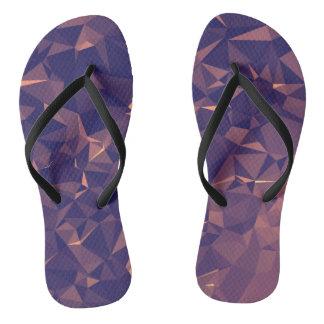 Elegant and Modern Geometric Art - Tropical Orchid Flip Flops