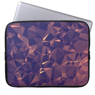 Elegant and Modern Geometric Art - Tropical Orchid Laptop Sleeve