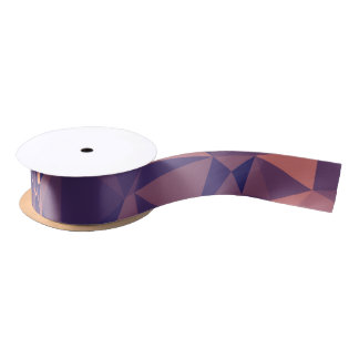 Elegant and Modern Geometric Art - Tropical Orchid Satin Ribbon