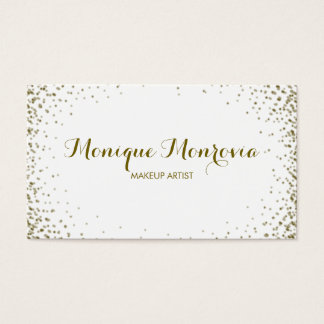 Elegant and Modern Gold Confetti Glitter Business Card