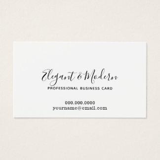 elegant and modern handwriting calligraphy prof business card