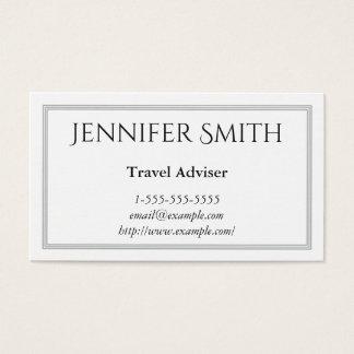 Elegant and Modern Travel Adviser Business Card