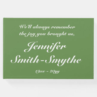Elegant and Mournful Funeral Guestbook