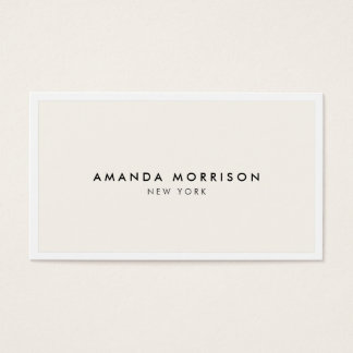 Elegant and Refined Luxury Boutique White/Ivory Business Card
