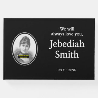 Elegant and Respectable Funeral Guestbook