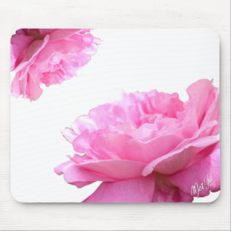 Elegant and Simple Pink Rose Floral Mouse Pad
