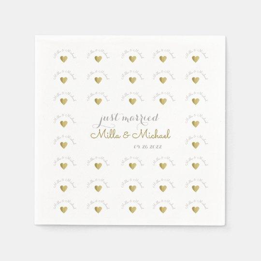 elegant and stylish monogram of love, white paper napkins