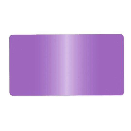 Elegant and stylish purple satin gradient blank shipping label