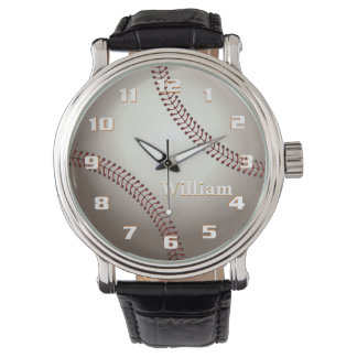Elegant and Stylish Retro Baseball Monogram Watch