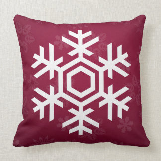 Elegant and Stylish Snow Pattern Christmas Throw Pillow