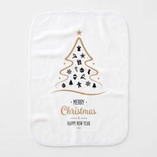 Elegant and Unique Christmas Tree Simple Baby Burp Cloth
