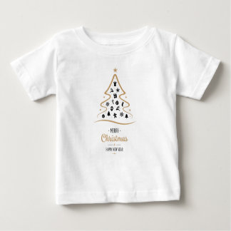 Elegant and Unique Christmas Tree Simple Baby T-Shirt