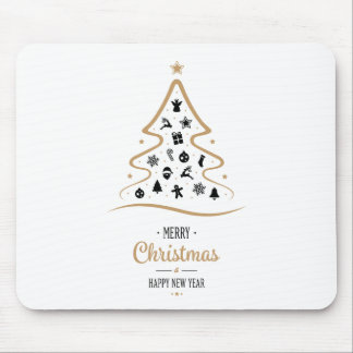 Elegant and Unique Christmas Tree Simple Mouse Pad