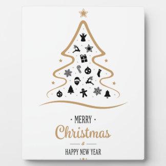 Elegant and Unique Christmas Tree Simple Plaque