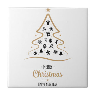 Elegant and Unique Christmas Tree Simple Tile