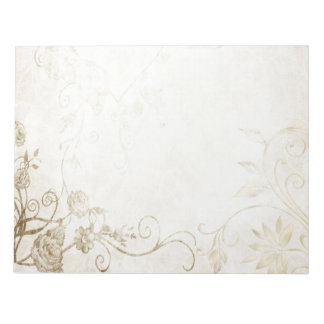 Elegant Antique Gold Notepad
