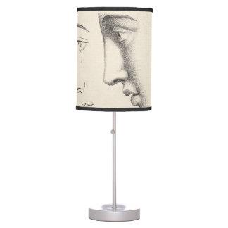 Elegant Antique Handsome Men Classic Engraving Table Lamp